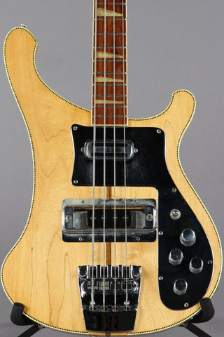 1973 Rickenbacker 4001 Bass Guitar Mapleglo -CHECKERBOARD BINDING-