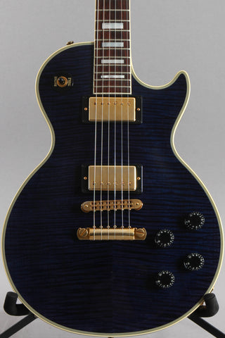 2012 Gibson Custom Shop Les Paul Custom F AAAA Transparent Blue Flame Top
