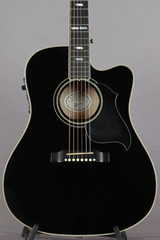 2010 Gibson Dove Performer Acoustic Electric Ebony Black