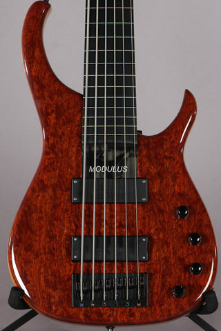 2005 Modulus Quantum Q6 6-String Fret-less Bass Bubinga Top