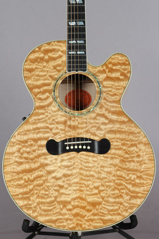2002 Gibson J-185EC AAAA Natural Quilt Maple Top