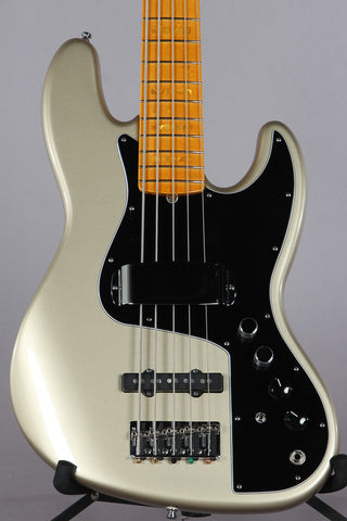 2011 Fender American Marcus Miller Signature 5 String Jazz Bass Shoreline Gold
