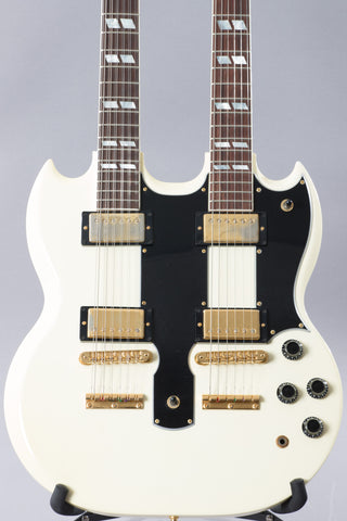 1995 Gibson EDS-1275 Sg Double Neck Electric Guitar White