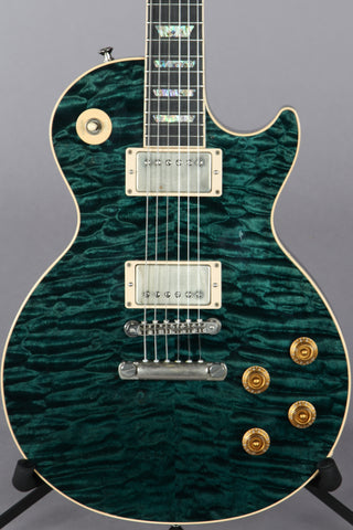 2004 Gibson Custom Shop Les Paul Elegant Peacock Green Quilt Top