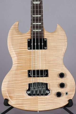 2007 Gibson SG Supreme Bass AAA Natural Maple Flame Top