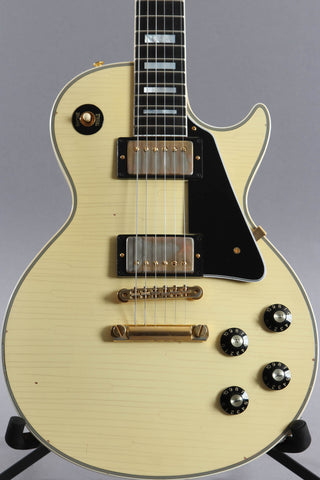 2019 Gibson Custom Shop Les Paul Custom '74 Reissue Heavy Aged Classic White