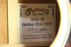 2013 Martin 000-18GE Golden Era 1937 Natural Acoustic Guitar