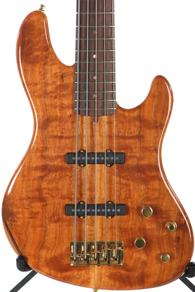 2008 fender victor bailey koa 5 string jazz bass guitar chimp. Black Bedroom Furniture Sets. Home Design Ideas