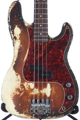 1969 Fender Precision P Bass -RARE ORIGINAL SUNBURST OVER WHITE-