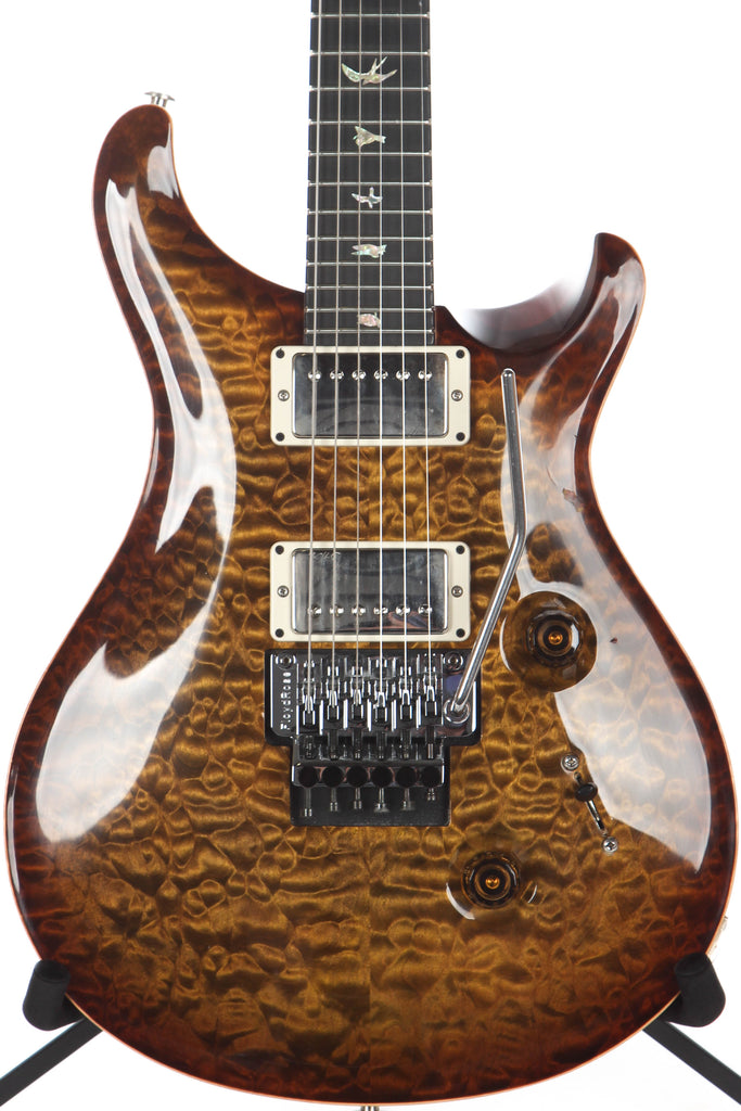 2014 PRS Paul Reed Smith Wood Library Custom 24 Floyd Rose Burnt Almond Artist Grade Quilt Top