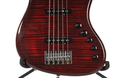 2011 Spector USA Coda Deluxe DLX 5 String Basss Black Cherry -SERIAL #001-