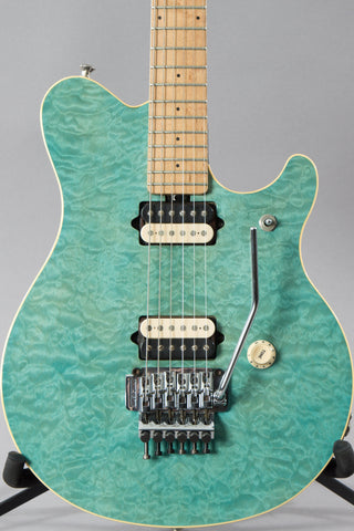 1997 Music Man Axis Translucent Blue Quilt