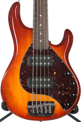 2007 Ernie Ball Music Man Stingray 5 HH 5 String Bass Honey Sunburst