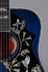 2017 Gibson Custom Shop Limited Edition Hummingbird Viper Blue Quilted Back & Sides