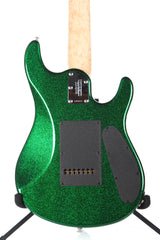 2013 Left Handed Ernie Ball Music Man JP7 John Petrucci 7 String Green Sparkle