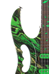 1991 Ibanez JEM 77GMC Green Multi Color Steve Vai Electric Guitar