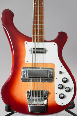 1992 Rickenbacker 4003S/5 5-String Bass Guitar Fireglo