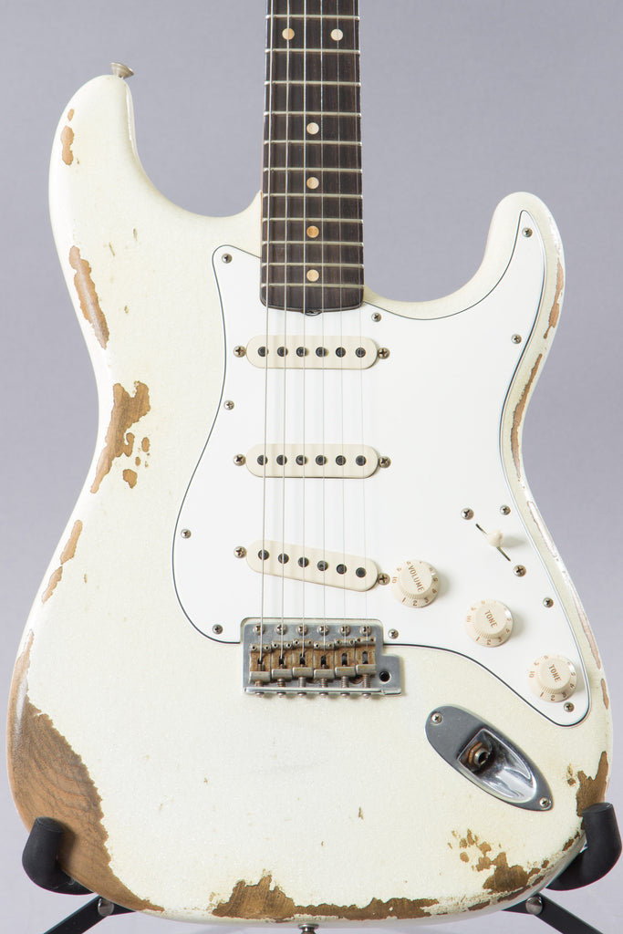 2017 Fender Custom Shop 1960 Heavy Relic Stratocaster White Sparkle