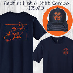 Redfish Fishing T-shirt & Hat Combo