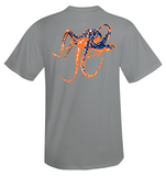 Octopus Performance Dry-Fit Short Sleeve - Gray w/Orange logo