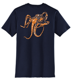 Navy Octopus Crew T-shirt Short Sleeve by Reel Fishy Apparel