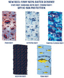 New Reel Fishy Buff Designs! Neck Gaiter, Face Buff, Bandana, Sunshield, Neck Buff, Fishing Buff, UPF 30 Sun Protection - Octopus Buff, Crab Buff, Tarpon State of Florida Buff, Redfish Buff, Tuna Buff