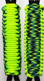 Neon Green & Aquitica -C023C062 - Paracord Handmade Handles for Stainless Steel Tumblers - Made in USA!