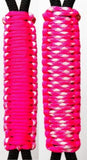 Neon Pink & Fashionista C008C048 - Paracord Handmade Handles for Stainless Steel Tumblers - Made in USA!