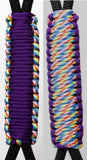 Purple & Rainbow -C024C050 - Paracord Handmade Handles for Stainless Steel Tumblers - Made in USA!