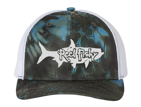 New! Tarpon Kryptek Camo Structured Trucker Hats - Reel Fishy Apparel