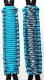 Turquoise & Blue Camo -C016C038 - Paracord Handmade Handles for Stainless Steel Tumblers - Made in USA!