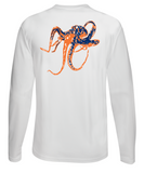 Octopus Performance Dry-Fit Long Sleeve - White w/Orange logo