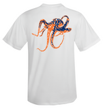 Octopus Performance Dry-Fit Short Sleeve - White w/Orange logo