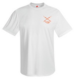 Octopus Performance Dry-Fit Short Sleeve - Front White w/Orange Reel Fishy Spears logo
