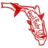 State of Florida Tarpon Reel Fishy Red decal