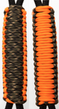 Camo & Blaze Orange C002C036 - Paracord Handmade Handles for Stainless Steel Tumblers - Made in USA!