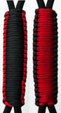 Red & Black C004C031 - Paracord Handmade Handles for Stainless Steel Tumblers - Made in USA!