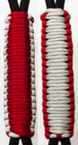 Imperial Red & Silver C004C034 - Paracord Handmade Handles for Stainless Steel Tumblers - Made in USA!