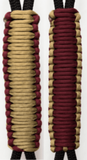 Maroon & Gold (Garnet & Gold) C006C030 - Paracord Handmade Handles for Stainless Steel Tumblers - Made in USA!