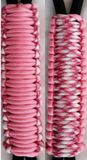 Pink & Pink - Paracord Handmade Handles for Stainless Steel Tumblers - Made in USA!