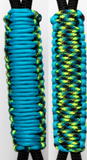 Blue Turquoise & Aquatica C016C062 - Paracord Handmade Handles for Stainless Steel Tumblers - Made in USA!