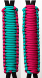 Teal & Fuchsia C017C010 - Paracord Handmade Handles for Stainless Steel Tumblers - Made in USA!