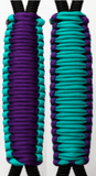 Teal & Purple C017C024 - Paracord Handmade Handles for Stainless Steel Tumblers - Made in USA!