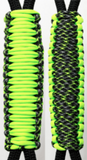 Neon Green & Green Ninja C023C055 - Paracord Handmade Handles for Stainless Steel Tumblers - Made in USA!