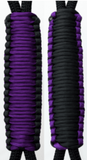 Purple & Black C024C031 - Paracord Handmade Handles for Stainless Steel Tumblers - Made in USA!
