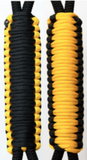 Black and Golden Yellow C031C026 - Paracord Handmade Handles for Stainless Steel Tumblers - Made in USA!