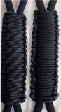 Black & Touch of Gray C031C070 - Paracord Handmade Handles for Stainless Steel Tumblers - Made in USA!