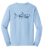 Tarpon Reel Fishy Cotton Long Sleeve - Lt. Blue