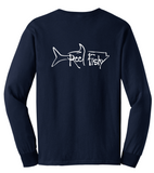 Tarpon Reel Fishy Cotton Long Sleeve - Navy