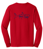 Tarpon Reel Fishy Cotton Long Sleeve - Red